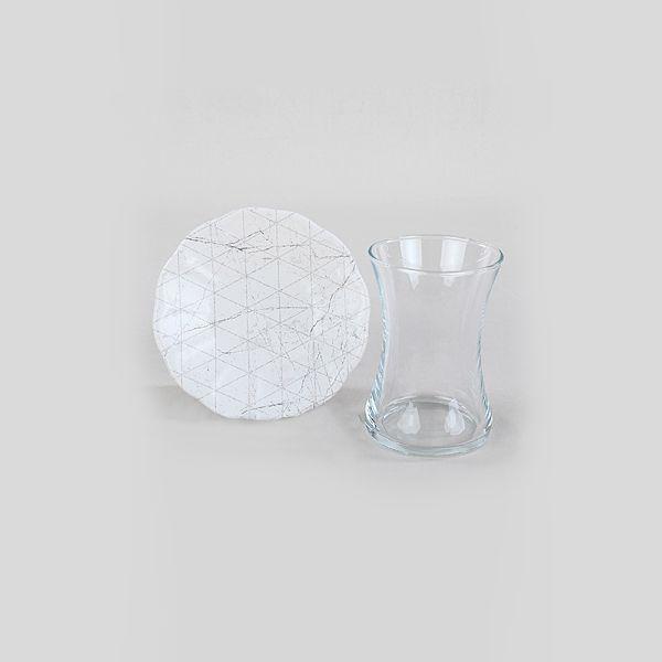 Trigon Marble Cam Çay Takýmý 12 Parça 6 Kiþilik - 18769