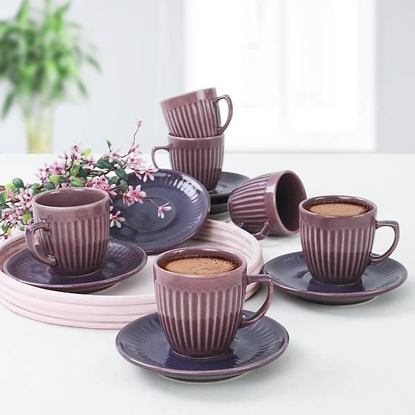 Berry Line Kahve Fincan Takýmý 12 Parça 6 Kiþilik