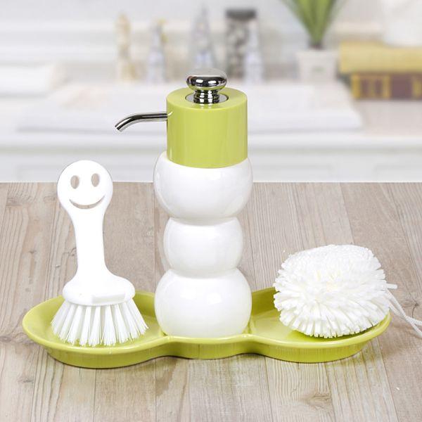 Yeşil Sıvı Sabunluk 3'lü - BNY-262