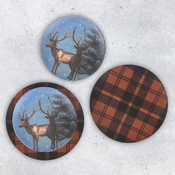 Winter Deers Pasta Takýmý 4 Parça 2 Kiþilik - 18512-18511