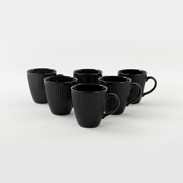 Siyah Myra Kupa 10 Cm 6 Adet