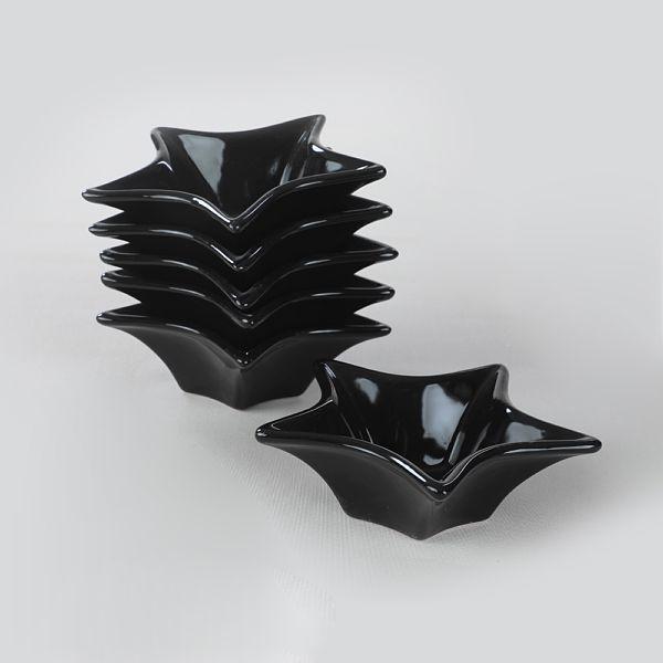 Siyah Yýldýz Çerezlik / Sosluk 16 Cm 6 Adet