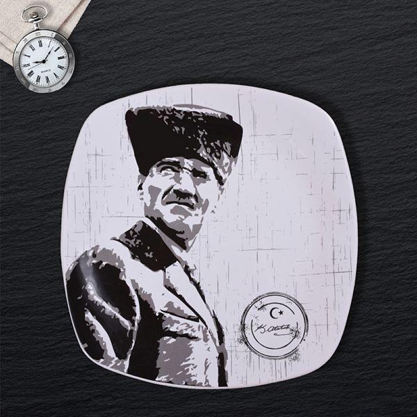 Atatürk Dekorlu Hediyelik Tabak