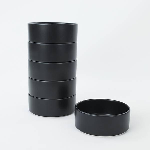 Mat Siyah Stackable Çorba Kasesi 14 Cm 6 Adet