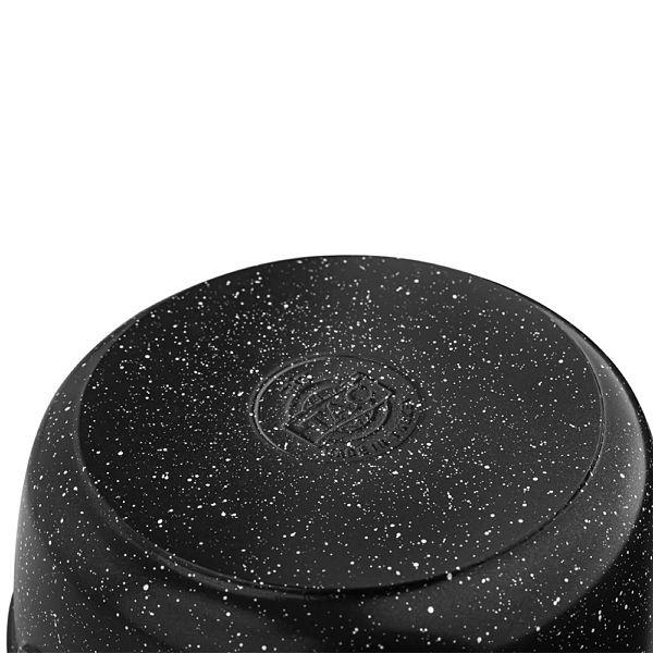 Granit Döküm Derin Tencere 28 cm Siyah