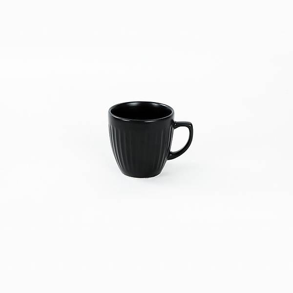 Mat Siyah Line Kahve Fincan Takýmý 12 Parça 6 Kiþilik