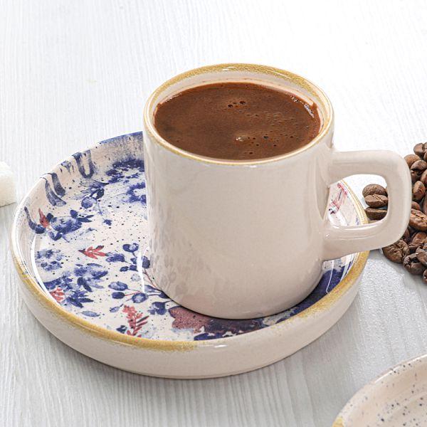 Mimoza Red Stackable Kahve Takýmý