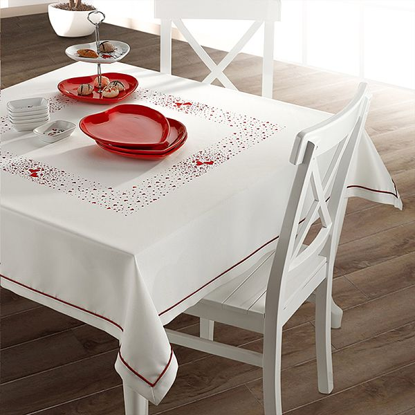 Kalpli Kuþlu Masa Örtüsü 140 x 140 Cm