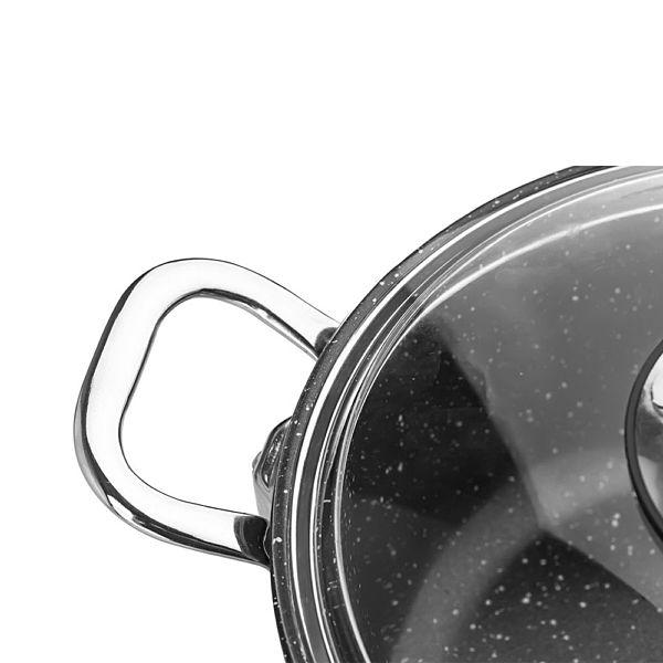 Gravita Döküm Basýk Tencere 28 cm Siyah