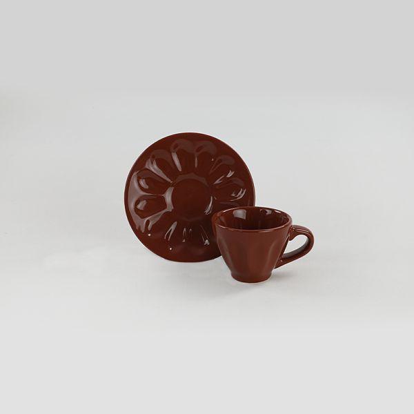 Kahverengi Badem Kahve Takýmý 12 Parça 6 Kiþilik