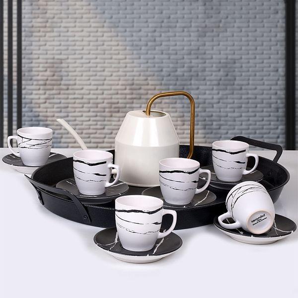Mermer Kahve Takýmý 12 Parça 6 Kiþilik - 17950-17951
