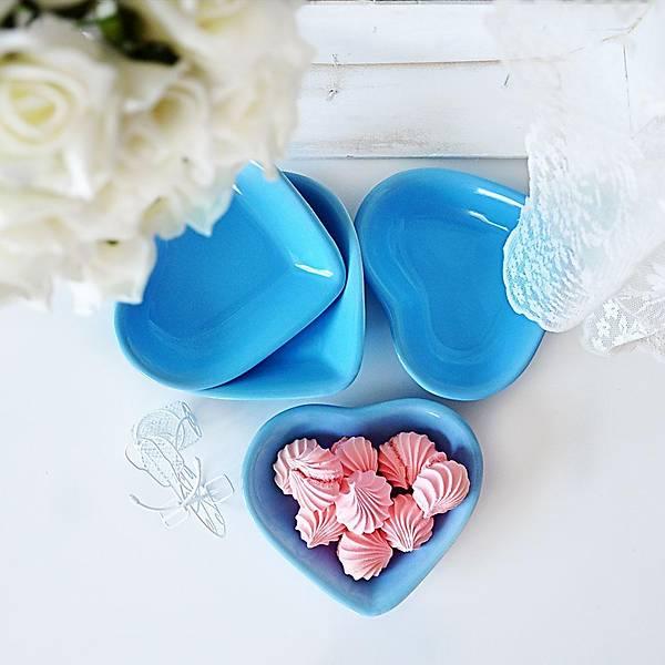 Mavi Kalp Çerezlik 13 Cm 6 Adet