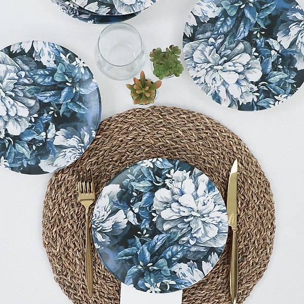 Blue Blossom Pasta Tabaðý 20 Cm 6 Adet - 19860