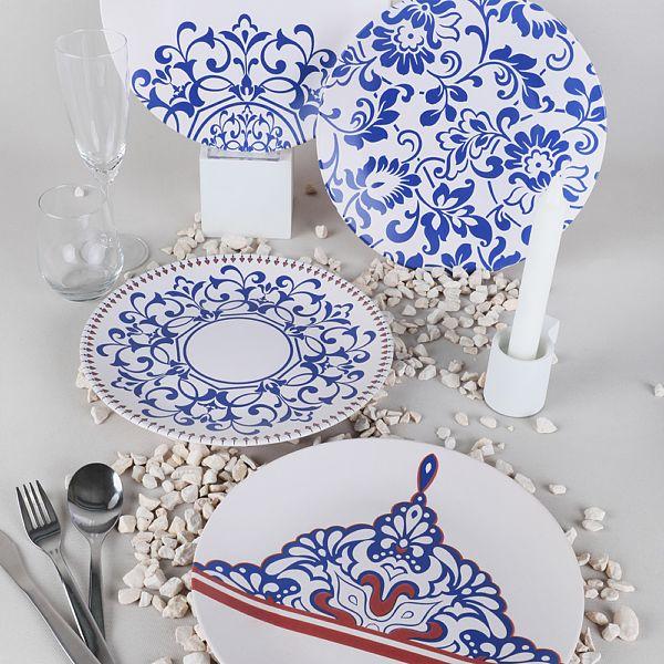 Blue Palace Ege Servis Tabağı 25 Cm 4 Adet - 18925-27-28-44