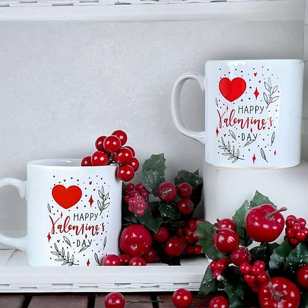 Happy Valentine Kupa 10 Cm 2 Adet