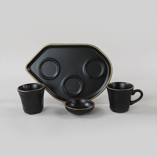 Gold Moka Kahve Sunum Seti 8 Parça 2 Kiþilik