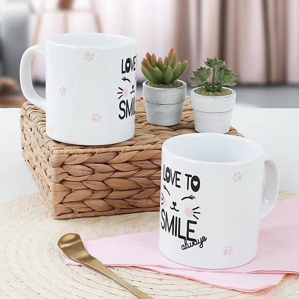 Kitty Smile Kupa 9 Cm 2 Adet