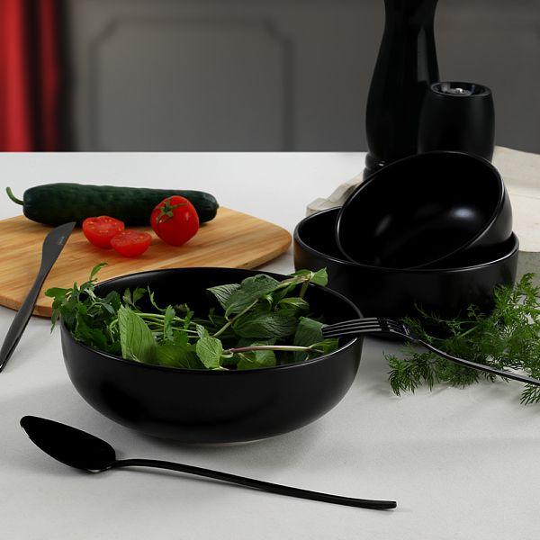 Mat Siyah Nordic/Kera/Bulut Salata/Çerez Seti 3 Parça