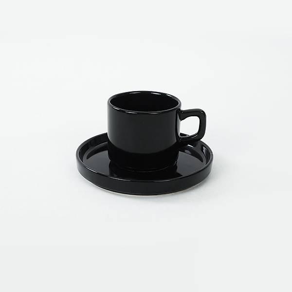 Siyah Stackable Çay Fincan Takýmý 12 Parça 6 Kiþilik