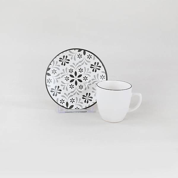 Tuli Grey Kahve Fincan Takýmý 12 Parça 6 Kiþilik - 19303