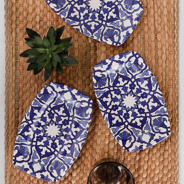 Osmanlı Kayık Tabak 19 Cm 3 Adet - 17667