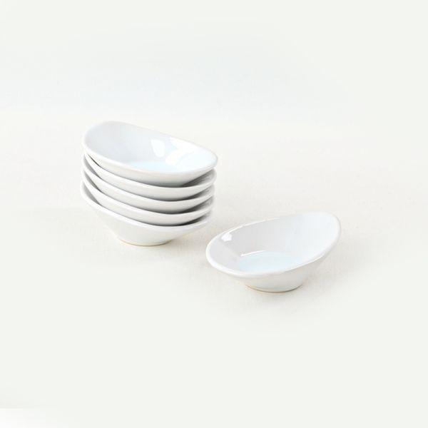 Beyaz Dalga Çerezlik/Sosluk 12 Cm 6 Adet