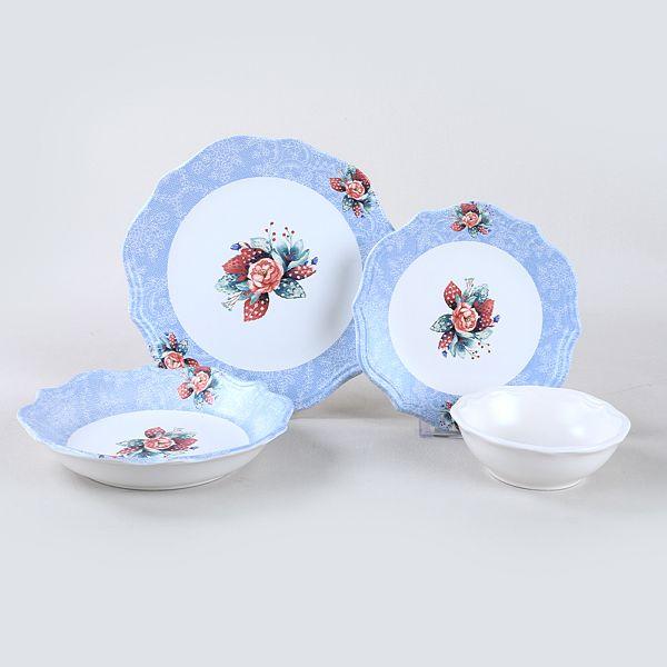 Petunia Blue Yemek Takýmý 24 Parça 6 Kiþilik - 19439-19518