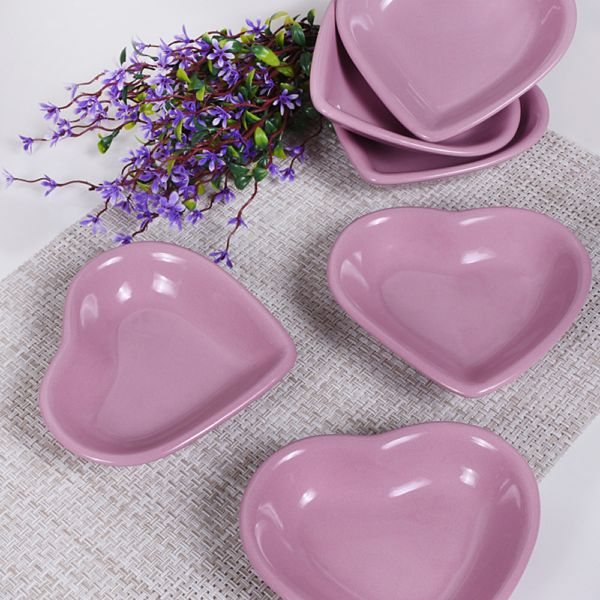 Violet Kalp Çerezlik 14 Cm 6 Adet