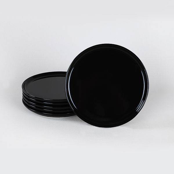 Siyah Nordic Pasta Tabaðý 22 Cm 6 Adet