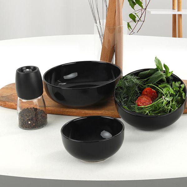 Siyah Nordic/Kera/Bulut Salata/Çerez Seti 3 Parça