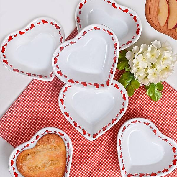 Keramira Kalp Beyaz Çorba Kasesi 15 Cm 6 Adet