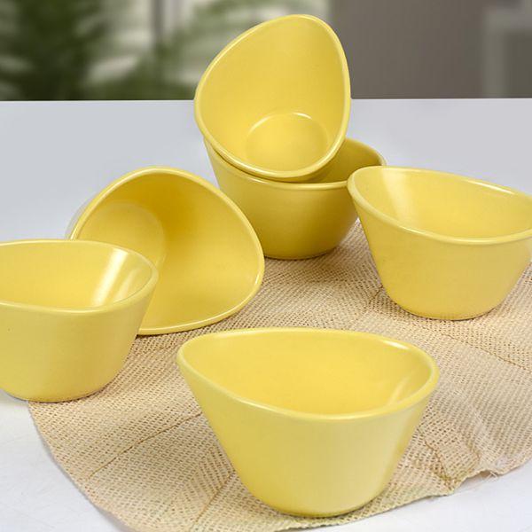 Mat Sarı Miska Çerezlik 12 Cm 6 Adet