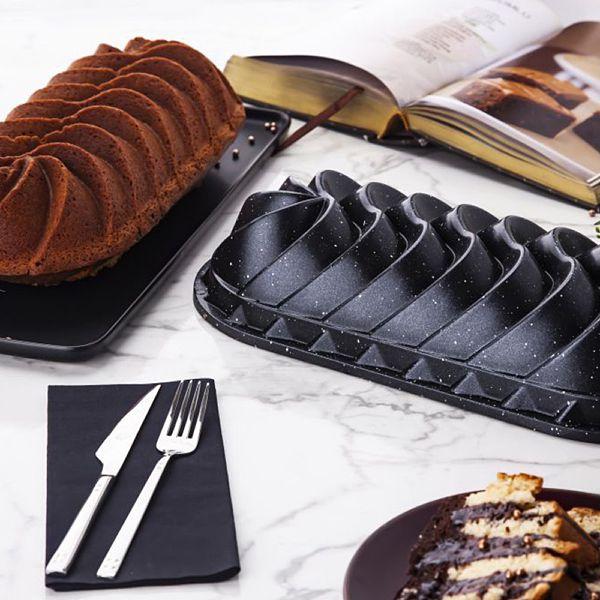 Rüzgar Gülü Baton Döküm Kek Kalıbı Siyah