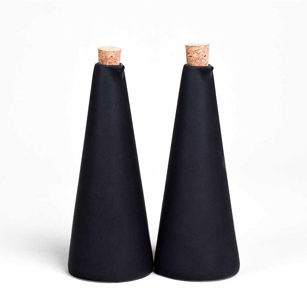 Yaðlýk - Sirkelik Seti Mat Siyah 21 cm 2 Adet