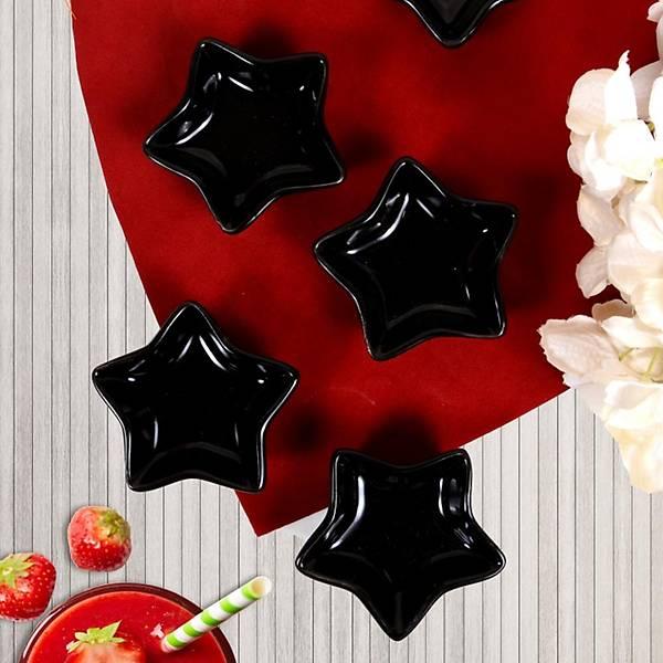 Siyah Mini Yýldýz Çerezlik / Sosluk 8 Cm 6 Adet
