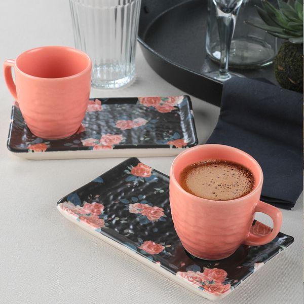 Siyah Gül Kahve Sunum Seti 2 Kiþilik - 18229