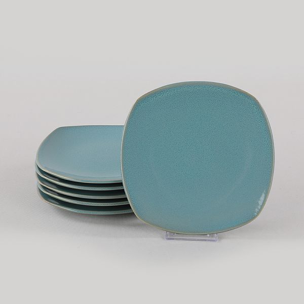 Blue Granit Köþem Pasta Tabaðý 22 Cm 6 Adet