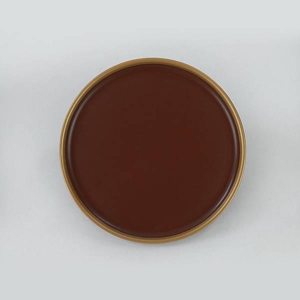 Nordic Gold Mat Acý Kahve Pasta Tabaðý 22 Cm 6 Adet - 955