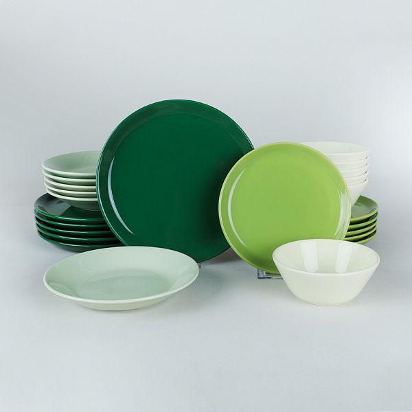 Hitit Degrade Yeşil Yemek Takımı 24 Parça 6 Kişilik