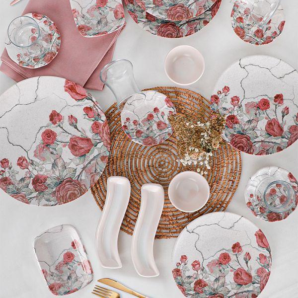 Pink Rose Kahvaltı Takımı 19 Parça 4 Kişilik - 18237