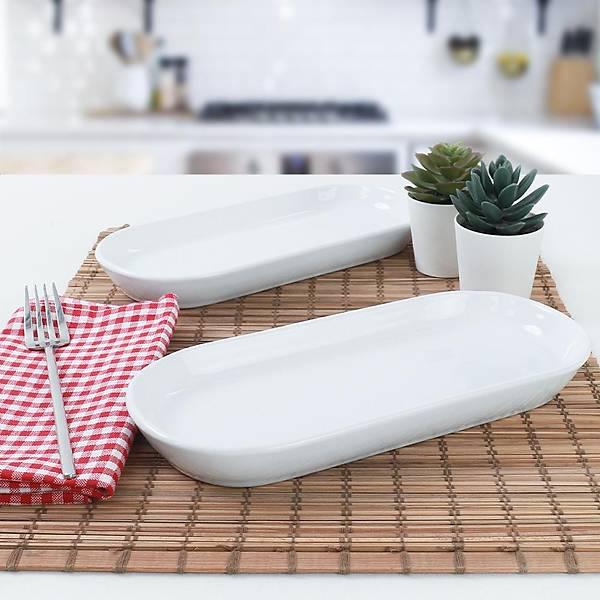 Beyaz Noyan Kayýk Tabak 2 Adet 26 Cm