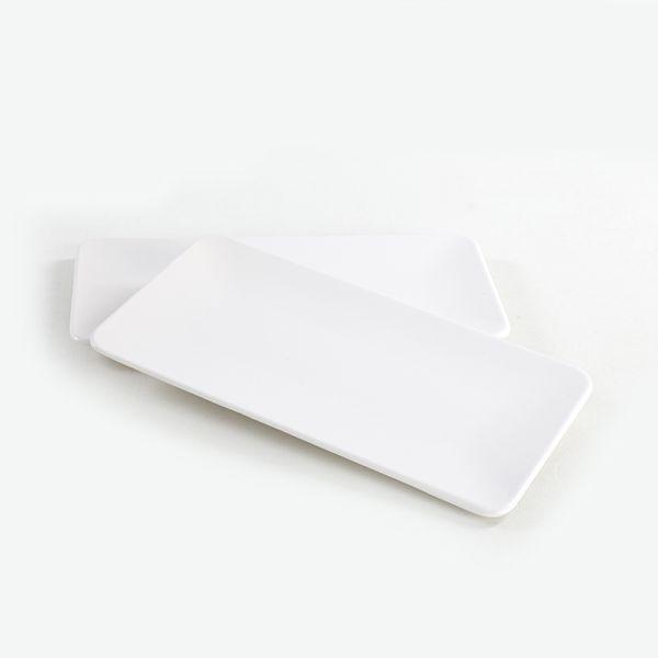 Mat Beyaz Siera Kayýk Tabak 33 Cm 2 Adet