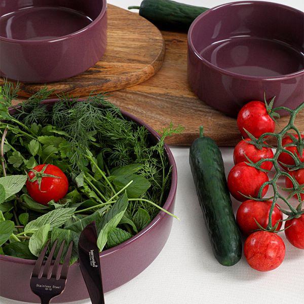 Mor Stackable Salata/Çerez Seti 3 Parça