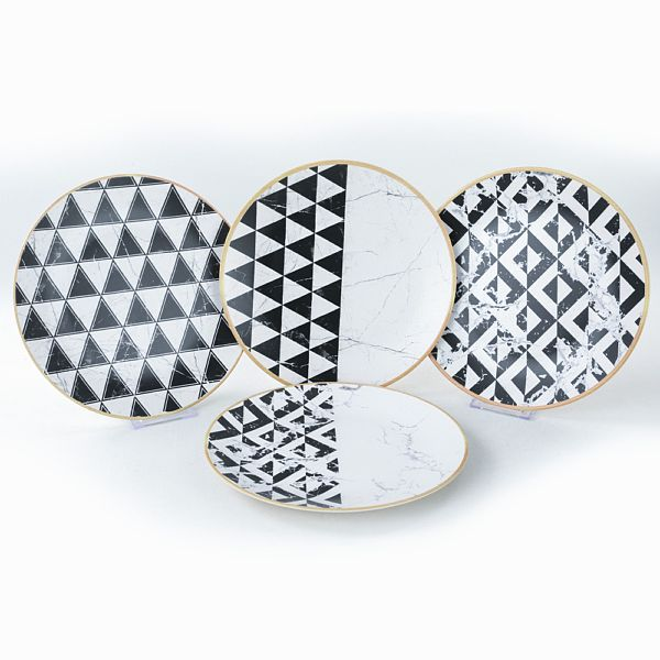 Trigon Marble Servis Tabaðý 25 Cm 4 Adet - 18765-66-67-68