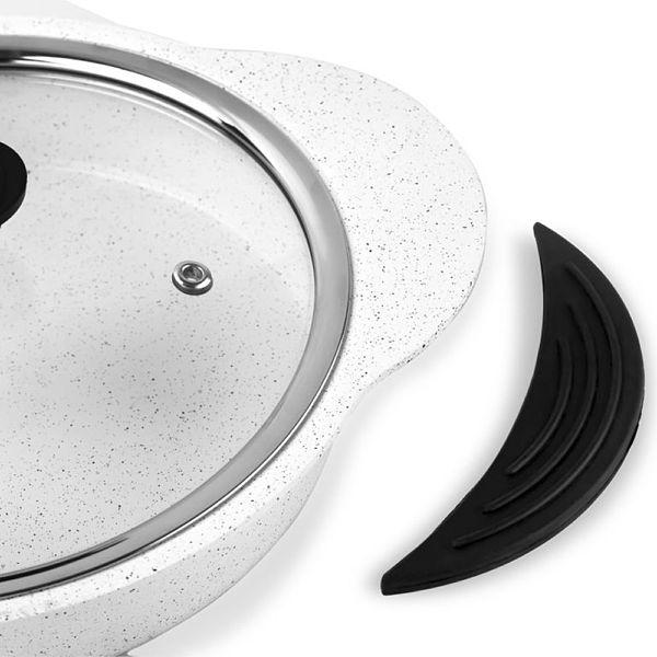 Granit Plus 3'lü Sahan Seti Tak/Çıkar Silikon Saplı Beyaz