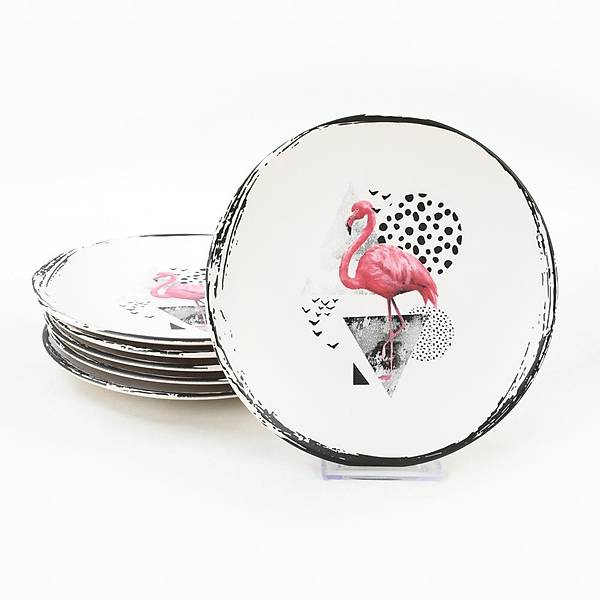 Flamingo Dots Pasta Tabaðý 20 Cm 6 Adet - 20286