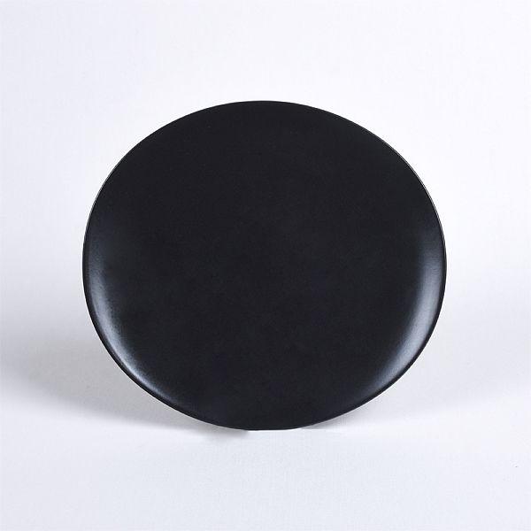 Oval Mat Siyah Yemek Takýmý 24 Parça 6 Kiþilik