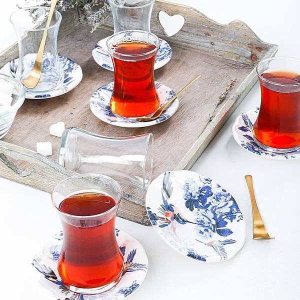 Florya Cam Çay Takýmý 12 Parça 6 Kiþilik - 19074