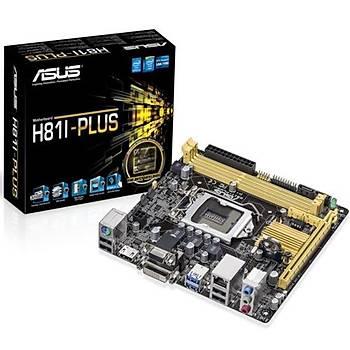Asus H81I-PLUS/DDR3 1600MHz VGA 1150p