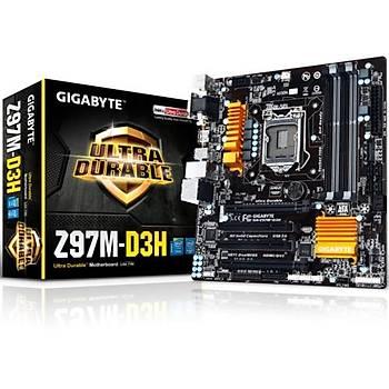 Gigabyte Z97M-D3H/DDR3 1600MHz VGA 1150p Anakart